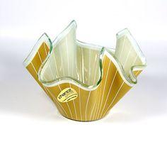 Chance Glass Caramel and White 'Cordon' Pinstripe by Retromojo, £22.00
