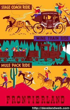 Disney Poster Disneyland Vintage Stage Coach Ride by Disneyland Vintage, Vintage Disney Posters, Retro Disney, Vintage Travel Posters, Disney Love, Disney Stuff, Disneyland Vacation, Disneyland Tips, Walt Disney