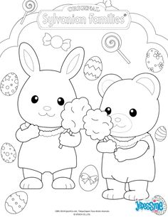 The Sylvanian Families Celebrate Easter coloring page