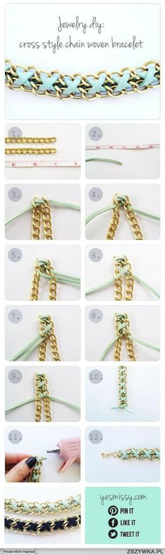 DIY | Cross style chain bracelet