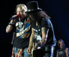 Axl Rose, Slash & Duff McKagan of Guns N' Roses, august 2016