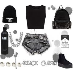 """""""I'll Take It In Black"""" by thaliortiz on Polyvore"""