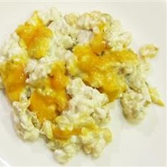 Hominy and Cheese Casserole Allrecipes.com.. @Carly Morlock is this your recipe? I keep on losing it love it!