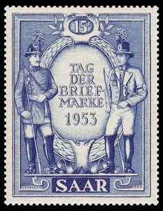 Saar Mi-Nr.342 Tag der Briefmarke