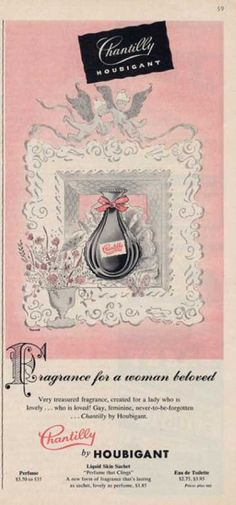 1950's perfume advertisement images   Perfume Ads of the 1950s