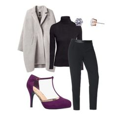 Easy office outfit with a pop of color!