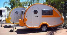vintage futuristic camper/caravan
