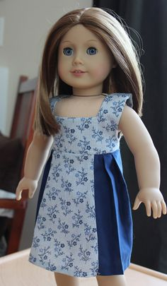 Ruthie, Emily, and Me: Bleuette's Sleeveless Pleated Sundress- free pdf pattern
