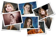 Photo pile portrait shootings