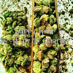 HAPPY HOUR $5 OFF AN 8G Quarter!!! Don't miss out only 4-8pm  #goldennuggetcollective #gnc #medicalmarijuana #prop215 #medicate #indica  #hybrid #sativa #dispensary #smoke #maryjane #Friday #weekend