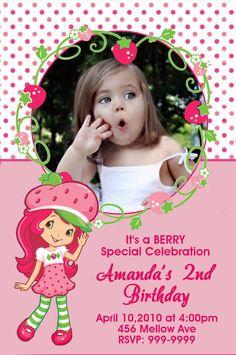 Strawberry Shortcake Birthday Party Invitations 24 by Mrsinvites, $6.99