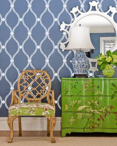 Henderson Classic Look Waves clover Abstracted Pattern Wall Stencil Allover Morocco Designer Decor better than Vinyl decals and Wallpaper. $34.00, via Etsy.