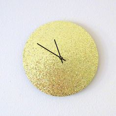 Hey, I found this really awesome Etsy listing at https://www.etsy.com/listing/126676076/glitter-wall-clock-trending-art-unique