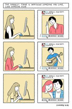 Cute Couple Comics, Couples Comics, Comics Love, Cute Comics, Sundae Kids, Couple Illustration, Short Comics, Cute Love, Comic Strips