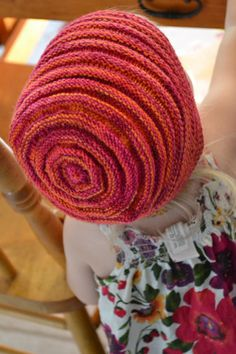 Fans of the bumpy purl stitch will love this Purl Happy Knit Hat pattern.  Rows of purls contrast knit stitches and give the hat a delightfully bumpy look.