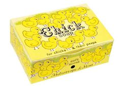 Chick Soap-Jodi, look! Funny Greeting Cards, Baby Chicks, Kids Cards, Bar Soap, Toy Chest, Bath And Body, Packaging Design, Unique Gifts, Decorative Boxes