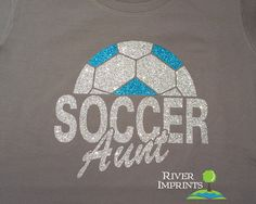 Hey, I found this really awesome Etsy listing at https://www.etsy.com/listing/183517689/soccer-aunt-sparkly-glitter-tee-shirt