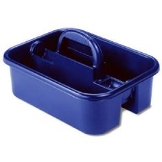 Akro-Mils 09185 BLUE Plastic Tote Caddy, 14-Inch by 18-Inch by 9-Inch, Blue