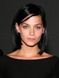 My signature hair cut, black angular long bob like Leigh Lezark. Went longer for a while, and just chopped it off again.