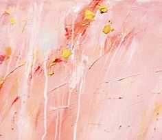Abstract Painting Coral Pink Gold Abstract Art Large Coral
