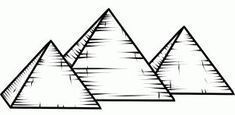 how to draw the pyramids of giza, pyramids of giza step 6 - Lombn Sites Egyptian Symbols, Egyptian Art, Egyptian Drawings, Skull Drawings, Kairo, Pyramids Of Giza, Online Drawing, Painted Books, Ancient Egypt
