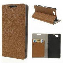 Funda Sony Xperia Z1 Compact Book Wood Wallet Marron  $ 132,00