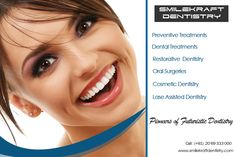 Our treatments: 1.Teeth cleaning 2. Dental Implants 3. Dental Bridges 4. Removable Dentures 5. Dental Fillings 6. Dental Crowns 7. Post & Core Treatment 8. Full Mouth Rehabilitation 8. Cosmetic Dentistry 9. Porcelain Veneers 10. Ceramic Caps 11. Composite Bonding 12. Teeth Whitening 13. Gum Contouring & Depigmentation 14. Teeth Sensitivity & Toothache 15. Root Canal Treatment 16. Cavity Prevention 17. Bite Guard 18. Laser Assisted Dentistry 19. Oral Surgeries 20. Tooth Removal