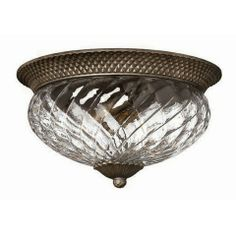 Hinkely Lighting Plantation 3 Lamp Indoor Large Flush Ceiling Light in Pearl Bronze A
