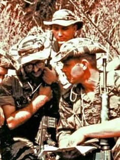 US Special Forces - Vietnam War. #VietnamWarMemories ~ Look at all that vintage tiger stripe camouflage!