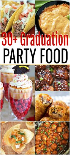 Graduation Party Food Ideas - Graduation party food ideas for a crowd We have over 30 Graduation Party Food Ideas that are easy to prepare, budget friendly and delicious. Get ready to celebrate with these tasty recipes. Graduation Party Foods, Grad Parties, Graduation Ideas, Nursing Graduation, Graduation Gifts, Party Food On A Budget, Party Food Menu, Food Budget, Tasty
