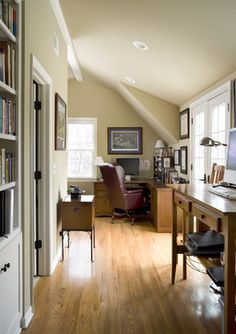 cape cod additions ideas | Cape Cod Addition home office - traditional - home office - kansas ...
