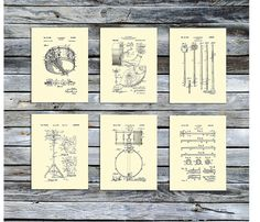 """Amazon.com: Drum Posters Set of 6 Unframed Patent Art Gift for Drummer 8x10"""" Drummer Wall Decor Drumming_Crm6A: Posters & Prints #patentartdecor #patentartgifts"""