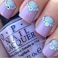 Purple + glitt + diamonds