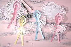 Süße Ballerinas, super zum Basteln für kleine Prinzessinen