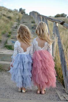 Tulle Skirt Kids, Tulle Tutu, Tulle Dress, Tulle Skirt Bridesmaid, Tulle Skirts, Little Girl Dresses, Girls Dresses, Flower Girl Dresses Country, Childrens Bridesmaid Dresses