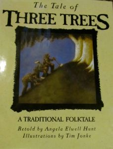 A great children's Christian book about sacrifice...The Tale of the Three Trees.