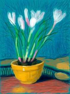 Official Works by David Hockney including exhibitions, resources and contact information. David Hockney Ipad, David Hockney Artist, David Hockney Paintings, James Rosenquist, Tamara, Pop Art Movement, Sculpture Painting, Ipad Art, Oil Painting Flowers