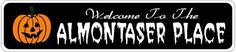 ALMONTASER PLACE Lastname Halloween Sign - Welcome to Scary Decor, Autumn, Aluminum - 4 x 18 Inches by The Lizton Sign Shop. $12.99. Great Gift Idea. Predrillied for Hanging. Rounded Corners. Aluminum Brand New Sign. 4 x 18 Inches. ALMONTASER PLACE Lastname Halloween Sign - Welcome to Scary Decor, Autumn, Aluminum 4 x 18 Inches - Aluminum personalized brand new sign for your Autumn and Halloween Decor. Made of aluminum and high quality lettering and graphics. Made to last for ye...