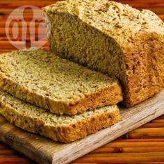 Pão de linhaça dourada sem glúten @ allrecipes.com.br
