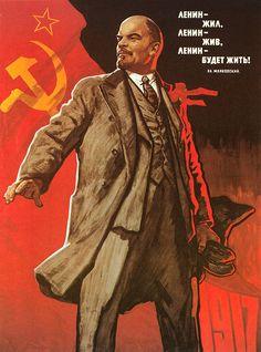 """""""Lenin Lived, Lenin Is Alive, Lenin Will Live"""" Soviet propaganda poster Communist Propaganda, Propaganda Art, Revolution Poster, Tsar Nicolas Ii, Vladimir Lenin, Pub Vintage, Vintage Art, Russian Revolution, Soviet Art"""