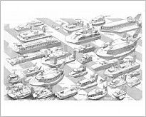 "10""x8"" (25x20cm) Print of cutaways/hovercraft glider cutaways/hovercraft ages cutaway drawing"