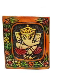 Terracotta sitting Ganesh wall hanging