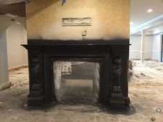 Painting the fireplace surround black