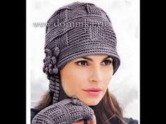 (j.03-11-16).Comencé a tejer este sombrero en lana verde Вязаная шапка крючком  в стиле 20х.  Часть1. Crochet Hat