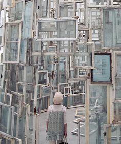 Haunch of Venison presents Chiharu Shiota Museum Of Contemporary Art, Modern Art, Pet Style, Artistic Installation, Sign Display, Land Art, Public Art, Cool Artwork, Sculpture Art
