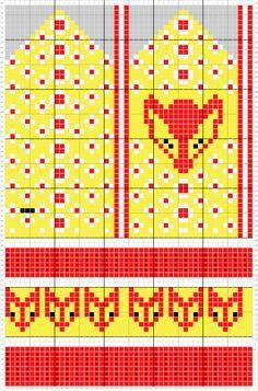 Aikaansaannoksia kiireen keskellä. Hän neuloo, virkkaa, ompelee, askartelee, kierrättää ja tekee kokeiluja köökinkin puolella. Knitted Mittens Pattern, Knit Mittens, Knitting Socks, Baby Knitting, Knitting For Charity, Fair Isle Knitting, Knitting Charts, Knitting Patterns, Crochet Chart
