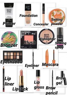 Drogerie Make-up Anfänger Kit . - Drogerie Make-up Anfänger Kit - Makeup Guide, Eye Makeup Tips, Skin Makeup, Makeup Ideas, Makeup Designs, Makeup Tutorials, Makeup Basics, Makeup List, Steps Of Makeup