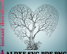 Tree Svg, Tree Tree, Family Tree Designs, Celtic Knot Designs, Tree Decals, Forest Pictures, Celtic Tree Of Life, Heart Tree, Tree Logos