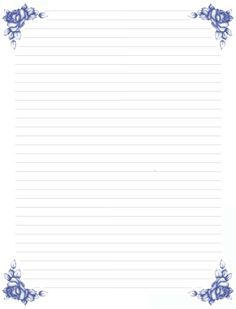 Notebook Paper Printable, Printable Lined Paper, Free Printable Stationery, Floral Printables, Pen Pal Letters, Journal Paper, Stationery Paper, Writing Paper, Planner Pages