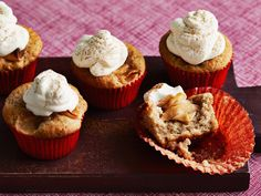 Apple Pie Cupcakes recipe from Food Network Kitchen via Food Network